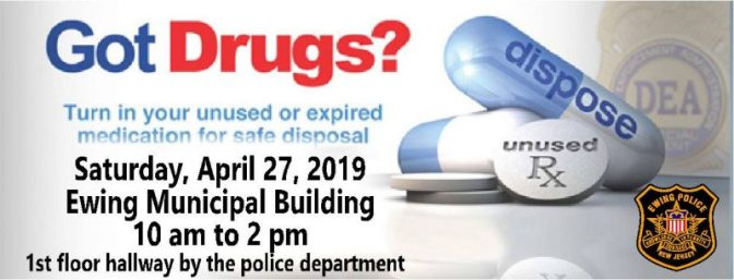 Got drugs?  Dispose of Unused Medications Safely during National Take Back Day on April 27th